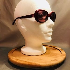 Fendi Monogram Red Oval Sunglasses